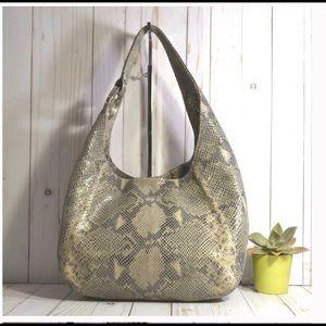 Michael Kors Python  Fulton Large Shoulder Bag